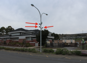 Three automated license plate readers on E. Sir Francisco Drake Blvd in Larkspur