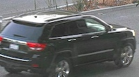 Credit: Alameda County Sheriff's Office Surveillance image of a Jeep Grand Cherokee authorities say may be connected to shootings of people in San Leandro with a pellet gun.