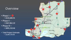 Map of Phase I Camera/ALPR Locations