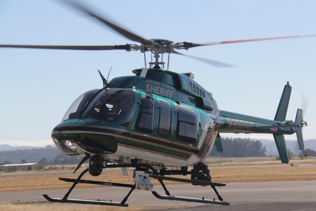 Sonoma County Sheriff Bell Textron Helicopter N108SC. Source: flickr.com