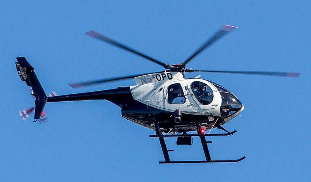 Oakland Police Department McDonnell Douglas 369E helicopter N510PD. Source: flickr.com