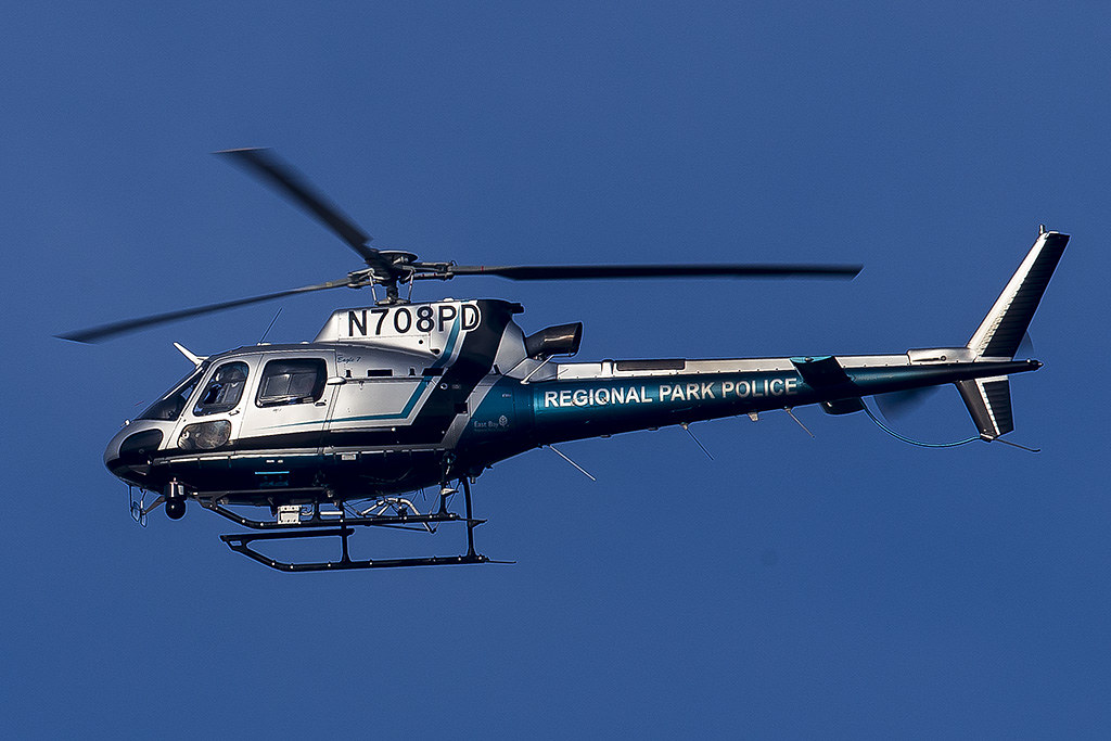 East Bay Regional Park District Poice Eurocopter AS350B3 helicopter N708PD. Source: flickr.com