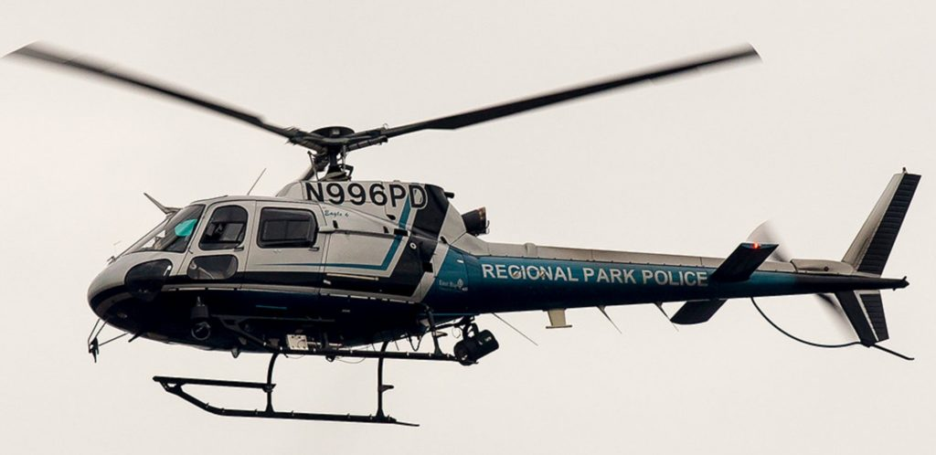 East Bay Regional Park District Police Eurocopter AS350B2 helicopter N996PD. Source: flickr.com